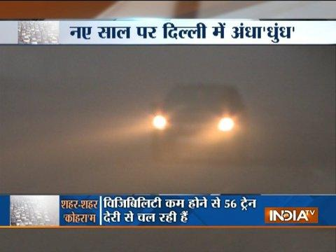 Dense fog engulfs Delhi-NCR on new year, visibility goes down to zero