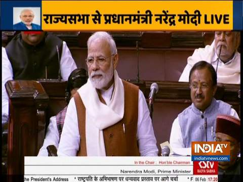 PM Modi delivers Motion of Thanks in Rajya Sabha
