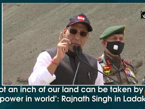'Not an inch of our land can be taken by any power in world': Rajnath Singh in Ladakh