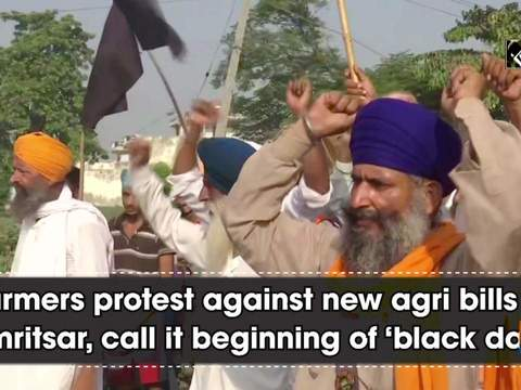 Farmers protest against new agri bills in Amritsar, call it beginning of 'black days'