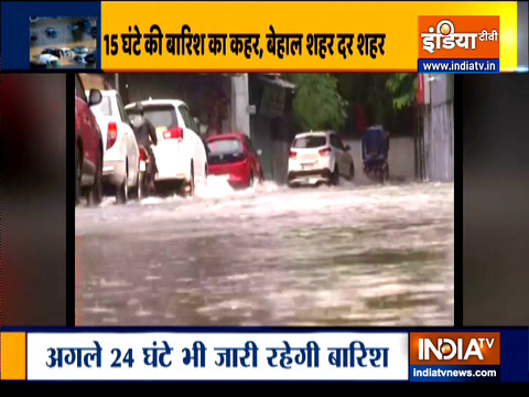 24 घंटे की बारिश के बाद यूपी जलमग्न, अगले 48 घंटों के बंद रहेंगे राज्य के स्कूल-कॉलेज