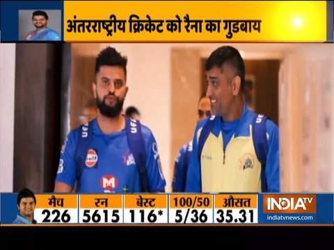 एमएस धोनी की घोषणा के कुछ मिनट बाद सुरेश रैना ने भी अंतरराष्ट्रीय क्रिकेट को कहा अलविदा