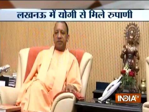 Gujarat CM Vijay Rupani meets UP CM Yogi Adityanath in Lucknow