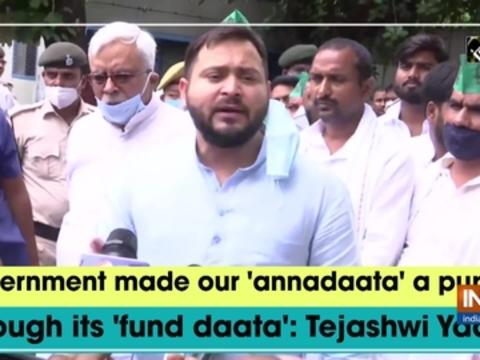 Government made our 'annadaata' a puppet through its 'fund daata': Tejashwi Yadav