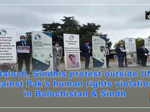Protest outside UN against Pak's human rights violations in Balochistan and Sindh