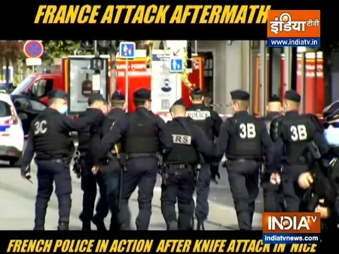 Police on scene after knife attack in Nice