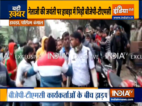 Clash between BJP-TMC workers in Howrah ahead of PM Modi's Bengal visit