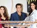 Salman Khan, Katrina Kaif and Madhuri Dixit attend IIFA press conference in style