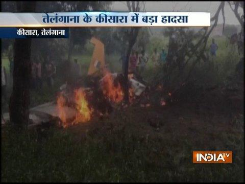 A trainee aircraft of IAF crashed in Keesara, Telangana