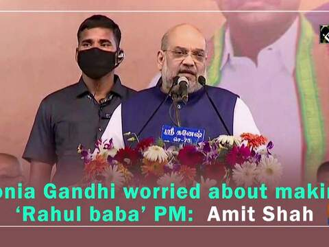 Sonia Gandhi worried about making 'Rahul baba' PM: Amit Shah