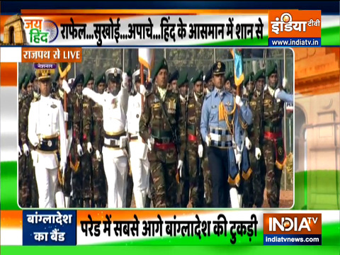 Republic Day 2021: Marching Contingent & Band of Bangladesh Army participate in R-Day parade