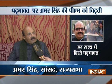 Padmaavat row: Amar Singh pleads PM Modi to allow release in Gujarat, Rajasthan, MP