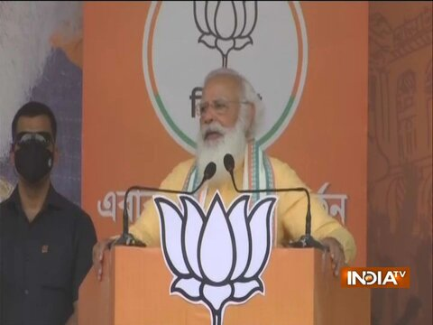 PM Modi attacks Mamata Banerjee at election rally in Sonarpur, says- She has accepted her defeat in Bengal