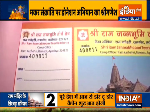 Ayodhya's Ram Temple construction fund collection drive from today