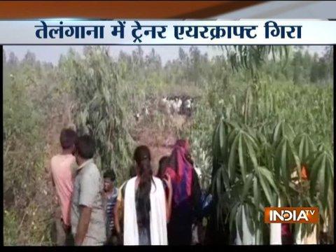IAF's Kiran trainer aircraft crashes in Telangana
