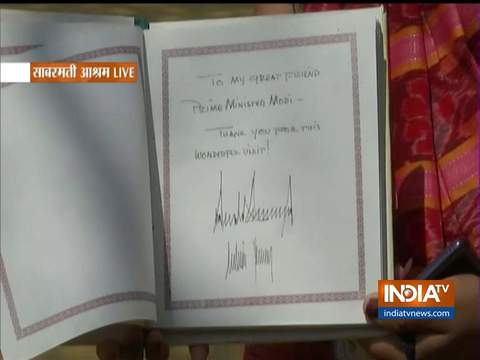 ''मेरे परम मित्र प्रधानमंत्री मोदी के लिए- इस अद्धभुत यात्रा के लिए धन्यवाद'': डोनाल्ड ट्रंप