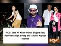 PICS: Sara Ali Khan enjoys bicycle ride; Ranveer Singh, Boney and Khushi Kapoor spotted
