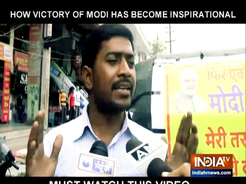 To celebrate Modi's victory, this auto rickshaw driver in Haldwani is offering free ride to his customers