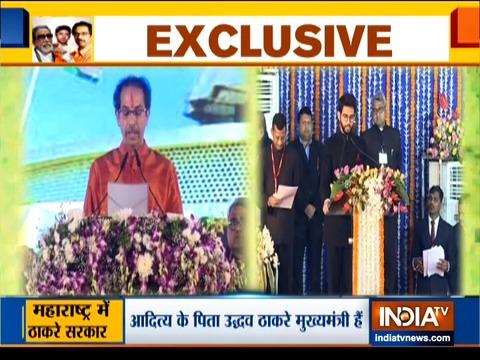 Aaditya Thackeray takes oath as minister in Maharashtra Govt