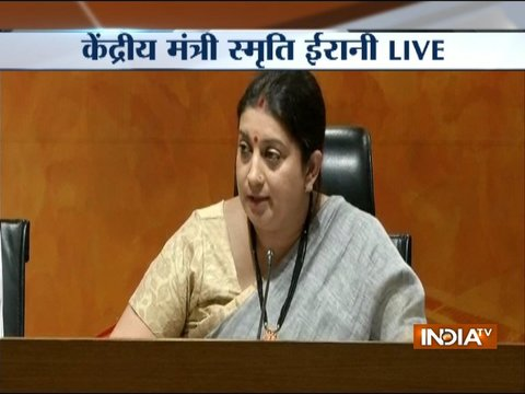 Union Minister Smriti Irani alleges of corruption by Kapil Sibal and his wife
