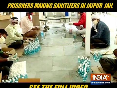 जयपुर की जेल में कैदियों बना रहे हैं हैंड सैनिटाइजर