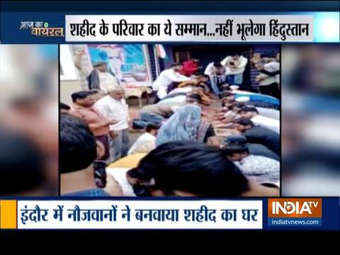 Aaj Ka Viral: Indore youths gift new house to martyr's wife