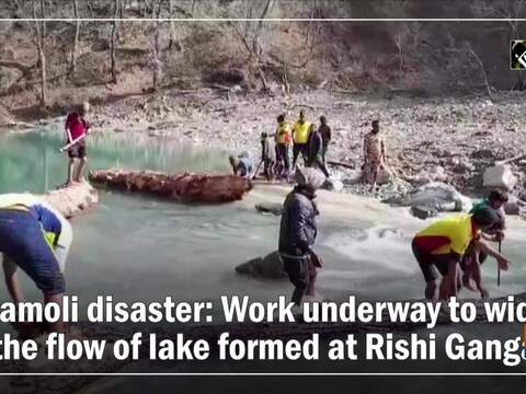 Chamoli disaster: Work underway to widen the flow of lake formed at Rishi Ganga