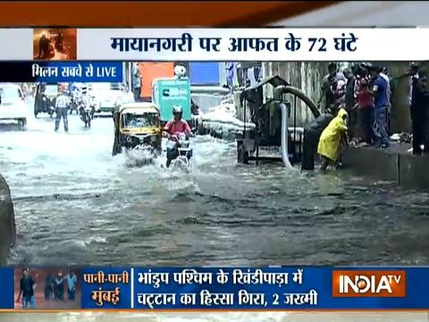 Massive waterlogging in various parts of Mumbai, high tide expected around 12:03 pm today