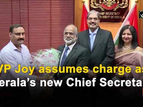 VP Joy assumes charge as Kerala's new Chief Secretary