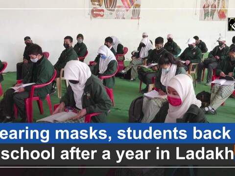 Wearing masks, students back to school after a year in Ladakh