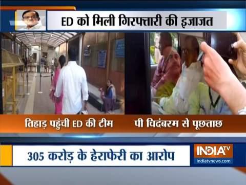 ED team reaches Tihar Jail to question P Chidambaram in INX Media case