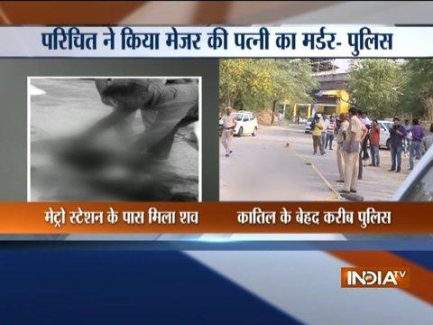 दिल्ली: कैंट इलाके में मेजर की पत्नी की गला रेतकर हत्या