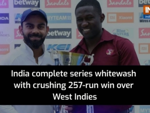 India complete series whitewash with crushing 257-run win over Windies