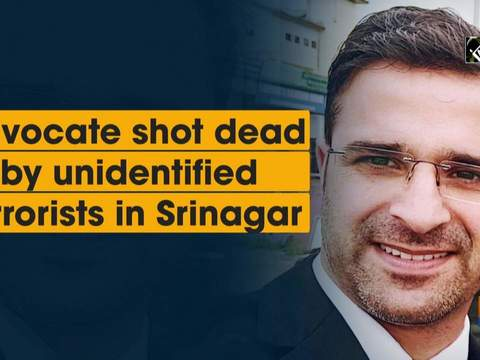 Advocate shot dead by unidentified terrorists in Srinagar