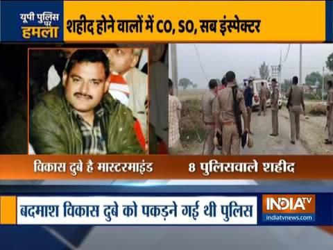 कानपुर में गैंगस्टर के साथ मुठभेड़ के दौरान 8 पुलिसकर्मी शहीद
