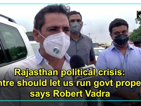 Rajasthan political crisis: Centre should let us run govt properly, says Robert Vadra