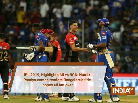IPL 2019, MI vs RCB: Hardik Pandya cameo renders Bangalore's title hopes all but over
