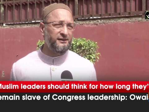 Muslim leaders should think for how long they'll remain slave of Congress leadership: Owaisi