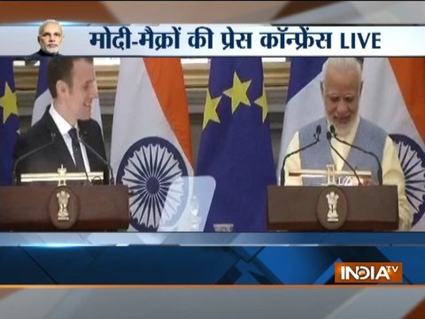 PM Modi, French President Macron issue joint statement, 14 agreements signed