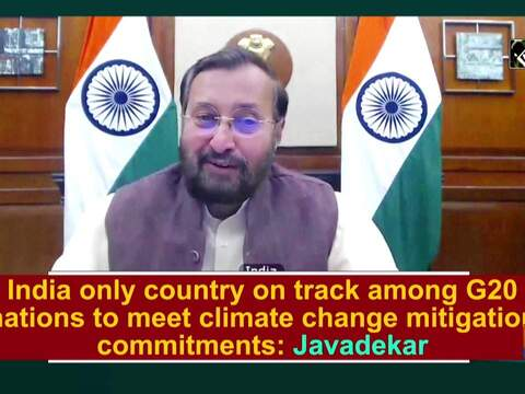 India only country on track among G20 nations to meet climate change mitigation commitments: Javadekar