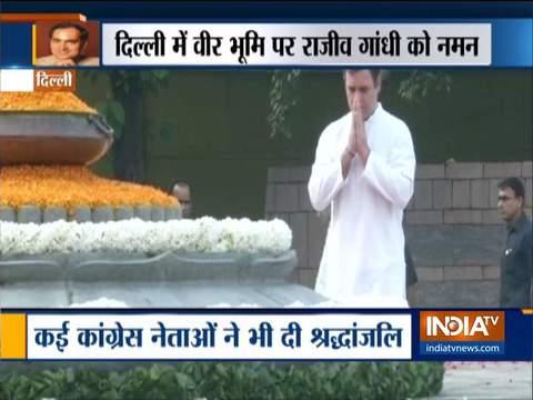 कांग्रेस ने पूर्व प्रधानमंत्री राजीव गांधी को उनकी 75वीं जयंती पर श्रद्धांजलि दी