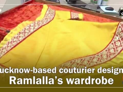 Lucknow-based couturier designs Ramlalla's wardrobe
