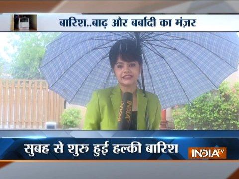 Morning rain lashes Delhi-NCR, brings temperature down