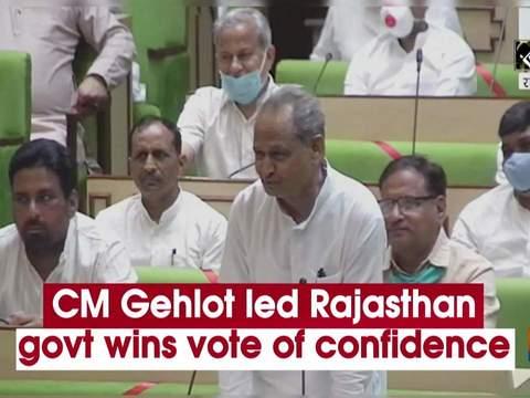 CM Gehlot led Rajasthan govt wins vote of confidence