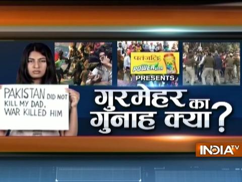 India TV is conducting a debate on the issue of nationalism and the politicisation of campuses