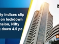 Equity indices slip 2 pc on lockdown extension, Nifty bank down 4.5 pc