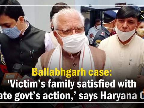 Ballabhgarh case: 'Victim's family satisfied with state govt's action,' says Haryana CM