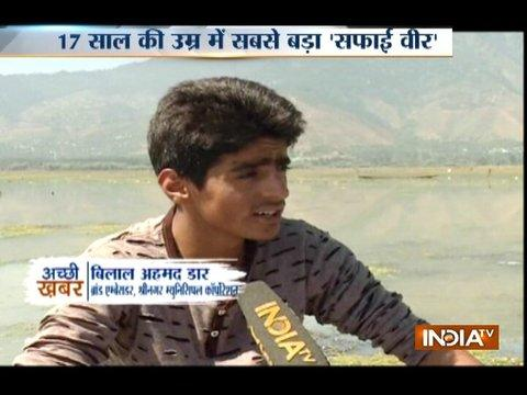 Good News: Bilal, a youth who took initiative to clean Kashmir's Wular lake
