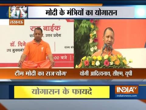 Watch: Team Modi celebrate International Yoga Day 2019