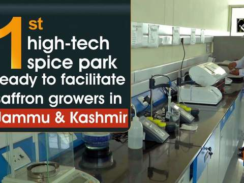 First high-tech spice park ready to facilitate saffron growers in JK